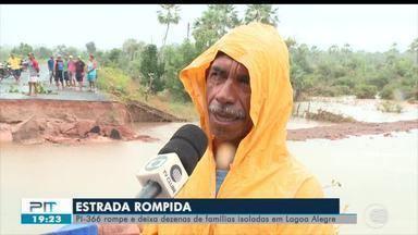 Rodovia PI-366 rompe no norte do Piauí - Rodovia PI-366 rompe no norte do Piauí