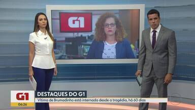 G1 MG no BDMG: vítima de Brumadinho está internada desde a tragédia, há 60 dias - Talita Oliveira, de 15 anos, quebrou a bacia e uma das pernas após ser levada por 'mar de lama'. A sobrinha dela morreu na tragédia.