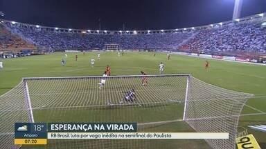 RB Brasil luta por vaga inédita na semifinal do Paulistão - RB enfrenta o Santos nesta terça-feira (26).