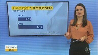 Agressão contra professores aumenta 73% no estado de São Paulo - Em 2017, foram 251 agressões em todo estado. Já no ano passado, 434 casos.