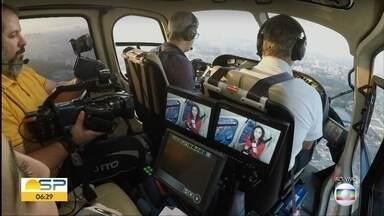 Equipe do BDSP mostra bastidores do GloboCop - Equipamentos possibilitam destacar e aproximar imagens.