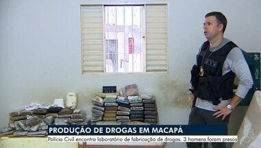 Cerca de 90 quilos de drogas e 3 armas são apreendidos em laboratório clandestino, no Ap - Maconha, crack e cocaína estavam entre material encontrado nesta segunda-feira (25), no bairro Jardim Felicidade 2, Zona Norte de Macapá.