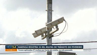 Maringá registra 24 mil multas de trânsito em fevereiro - Número é 12% menor que o registrado no mês anterior.