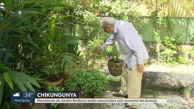 Moradores do Jardim Botânico estão assustados com aumento de casos de chikungunya - Bairro é um dos lugares que teve mais casos da doença em março.