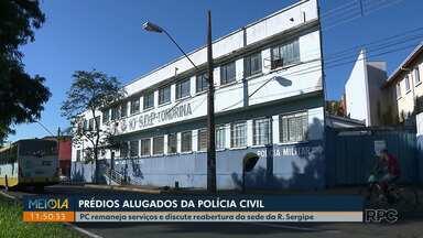 Polícia civil discute reabertura da sede na Rua Sergipe em Londrina - A determinação do governo do estado pra redução de gastos com alugueis está forçando negociações e remanejamentos nos prédios usados pela Polícia Civil em Londrina.