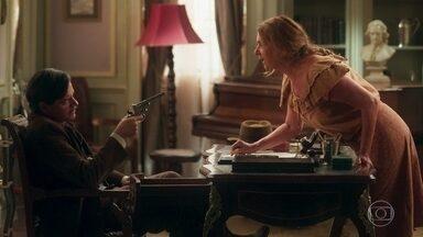 Graça ameaça Eugênio e exige que o coronel liberte Piedade - Teresa volta a falar quando percebe que a mãe está em perigo