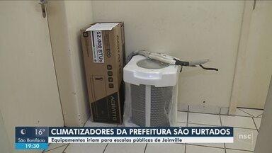 Ladrões furtam aparelhos de ar-condicionado que seriam instalados em escolas de Joinville - Ladrões furtam aparelhos de ar-condicionado que seriam instalados em escolas de Joinville