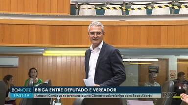 Vereador Amauri Cardoso fala na Câmara sobre briga com o deputado Boca Aberta - Cardoso disse que a agressão foi em legítima defesa. O advogado de Boca Aberta chamou esta alegação de estratégia jurídica.