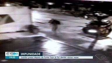 Homem é preso suspeito de vários arrombamentos e furtos em Vitória, ES - Roberto Nogueira da Silva é um velho conhecido da Justiça por conta de crimes que comete na região da Praia do Canto.