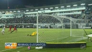 Santos empata com RB Brasil e avança para semifinal do Paulistão - Mesmo com o empate por 0 a 0, Peixe se classificou com a vantagem da partida anterior.