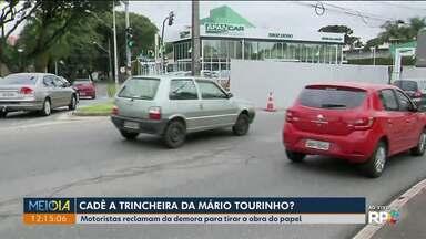 Prefeitura não dá prazo para começo das obras da trincheira da Mario Tourinho - Obras estavam previstas para começar em setembro.