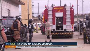 Preso morre após colocar fogo no colchão - Foi ontem (27) na Casa de Custódia de Curitiba.