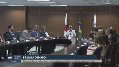 Governador discute recuperação ambiental e socioeconômica da região de Brumadinho (MG) - Governador discute recuperação ambiental e socioeconômica da região de Brumadinho (MG)