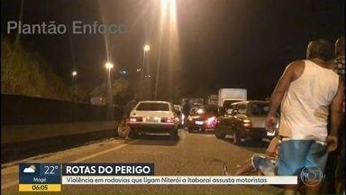 Fim de semana de violência nas rodovias que ligam Niterói a Itaboraí - A RJ-104 e a BR-101 são as principais opções para motoristas que seguem para a região Norte do estado. Arrastões