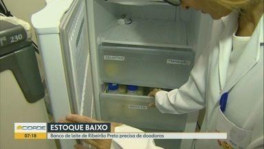 Banco de leite está com estoque baixo em Ribeirão Preto - Cerca de 40 recém-nascidos que estão internados no Hospital das Clínicas precisam desse leite.
