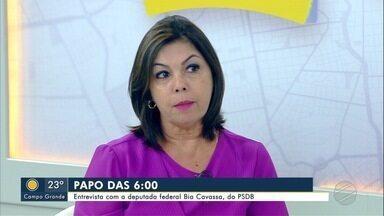 Deputada federal Bia Cavassa (PSDB) é a entrevista do Papo das 6, do Bom Dia MS - Deputada federal Bia Cavassa (PSDB) é a entrevista do Papo das 6, do Bom Dia MS.