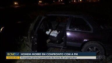 Suspeito de participar de latrocínio é morto em confronto com a polícia - Ele era suspeito de participar da morte de um agricultor em Nova Prata do Iguaçu.