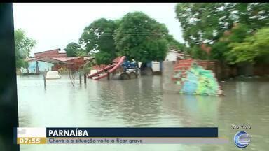 Volta a chover em Parnaíba e situação piora - Volta a chover em Parnaíba e situação piora