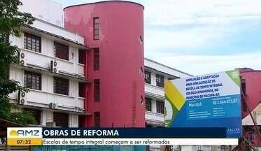 Escolas estaduais de tempo integral em Macapá e Santana começam a passar por reformas - Falta de estruturas nos colégios, com esse novo modelo de ensino, complica a rotina dos estudantes.