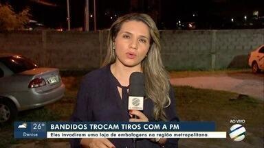 Bandidos invadem loja de embalagens em Cuiabá e trocam tiro com PM na fuga - Bandidos invadem loja de embalagens em Cuiabá e trocam tiro com PM na fuga
