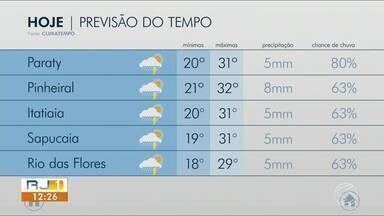 Abril começa com aumento da nebulosidade no Sul do Rio - Em algumas cidades pode ter pancadas de chuva durante a tarde.