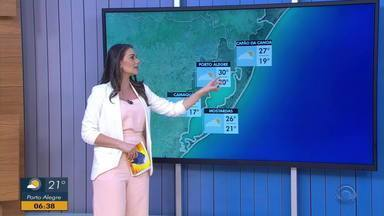 Manhã desta segunda-feira (1) tem regiões com pouca neblina no RS - Assista ao vídeo.