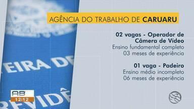 Confira as 46 vagas de emprego disponíveis para esta segunda-feira (1º) - Oportunidades são para Caruaru, Santa Cruz do Capibaribe, Bezerros e Arcoverde.