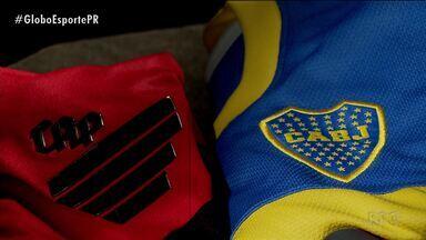 Athletico finaliza preparação para duelo com o Boca Juniors - Confronto será o segundo da história e o Globo Esporte vai relembrar a primeira partida entre os dois times, disputada em 1973