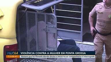 Acusado de espancar ex passa por audiência de instrução em Ponta Grossa - Vídeo em que Carlos Eduardo Píle aparece agredindo a ex-companheira foi divulgado nas redes sociais em janeiro deste ano. Ele está preso.