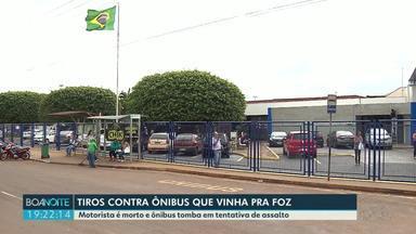 Bandidos assaltam ônibus que vinha pra Foz - Motorista foi morto a tiros.