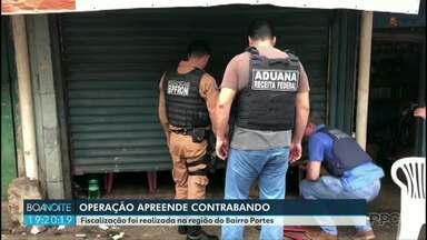 Força Tarefa realiza Operação na região do bairro Portes - Cerca de oitenta mil reais em contrabando foram apreendidos.