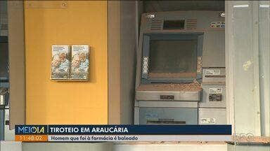 Bandidos explodem banco em Araucária - Moradores registraram o barulho das explosões e dos tiros durante a madrugada