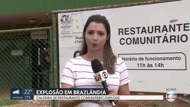 Caldeira de restaurante comunitário de Brazlândia explode - Duas pessoas ficaram feridas em explosão de uma caldeira no restaurante comunitário de Brazlândia.
