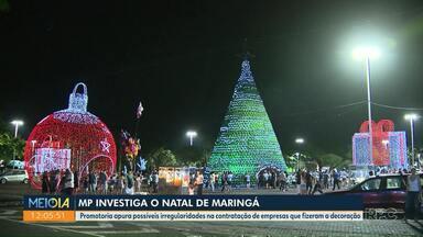 Natal de Maringá vira alvo de investigação do Ministério Público - MP apura possíveis irregularidades na contratação de empresas que fizeram a decoração de Natal no ano passado.