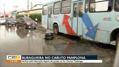 Buracos provocam acidentes em avenida do Carlito Pamplona - Confira outras notícias no g1.com.br/ce