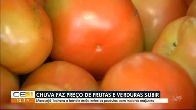 Chuva faz preço de frutas e verduras subir - Confira outras notícias no g1.com.br/ce