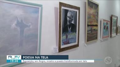 Em Angra dos Reis, exposição mostra poesia transformada em tela - A mostra fica até segunda-feira (8), na Casa da Cultura Poeta Brasil dos Reis.