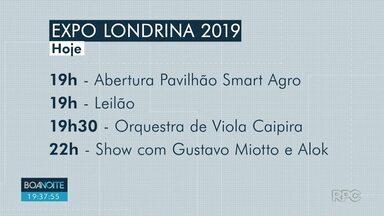 Começou hoje a ExpoLondrina 2019 - Na primeira noite, Gustavo Miotto e Alok se apresentam
