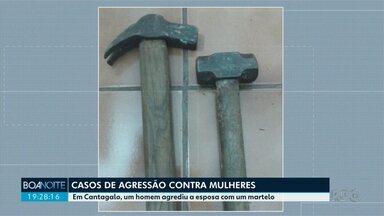 Homem agride a esposa com martelo em Cantagalo - Novos casos de agressão contra mulheres são registrados no Paraná