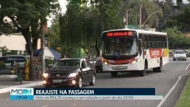 Passagem do transporte público em Ipatinga sofre reajuste de 10,52% - Preço subirá de R$ 3,80 para R$ 4,20; tarifa de estudantes passa de R$ 3,04 para R$ 3,36; novas tarifas passarão a vigorar a partir do dia 22 de abril.