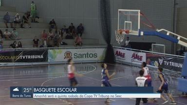 Quinta rodada da Copa TV Tribuna de Basquete acontece neste sábado - O torneio é no Sesc, a partir das 12h.