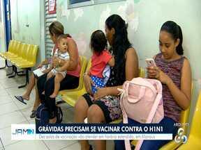 Campanha de vacinação contra H1N1 encerra em Manaus, mas imunização segue para grávidas - A vacinação será exclusiva para esse público remanescente nas dez Unidades Básicas de Saúde (UBSs) .