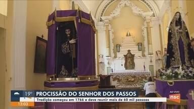 Procissão do Senhor dos Passos deve reunir 60 mil fiéis em Florianópolis - Florianópolis divulga alterações no trânsito por causa da procissão do Senhor dos Passos