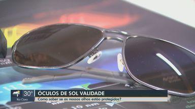 Técnico em ótica explica sobre o prazo de validade dos óculos de sol - Saiba quando os seus olhos estão protegidos.