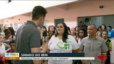 Voluntários realizam ação social em Cachoeiro de Itapemirim, ES - Serão ações de saúde e orientações de conscientização.
