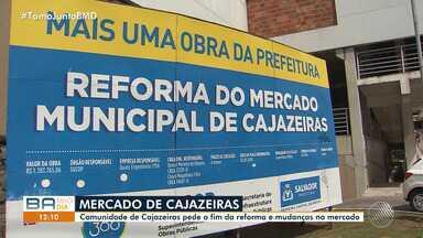 Comunidade reclama de atraso na conclusão da reforma do Mercado de Cajazeiras - Espaço teve um incêndio em 2017 e a obra de recuperação ainda não terminou, o que tem gerado transtornos para clientes e comerciantes.