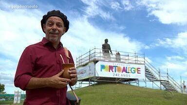 Neto Fagundes visita a Estátua do Laçador no quadro De Mala e Cuia - Assista ao vídeo.