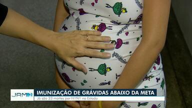 H1N1: Veja endereços de UBSs com vacinação dedicada a grávidas em Manaus - Vacinação continuará para grávidas, porque ainda apresentam o percentual isolado abaixo do esperado (85%).