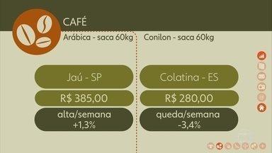 Veja a cotação do café na semana - Em Jaú, a saca do arábica foi negociada por R$ 385.