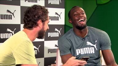 Usain Bolt completa dez anos de recorde mundial e visita o CT do Palmeiras - Usain Bolt completa dez anos de recorde mundial e visita o CT do Palmeiras